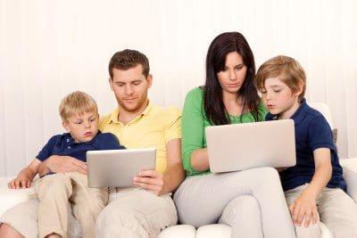 Family laptop wireless radiation protection