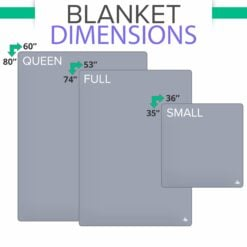 DefenderShield EMF Radiation Protection Blanket in 3 Sizes Comparison Chart