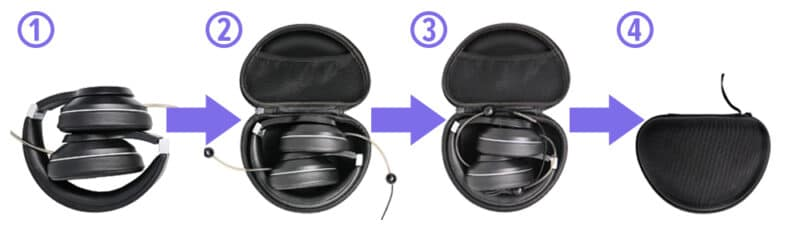 DefenderShield Adult EMF Free Air Tube Headphones Carrying Case Instructions