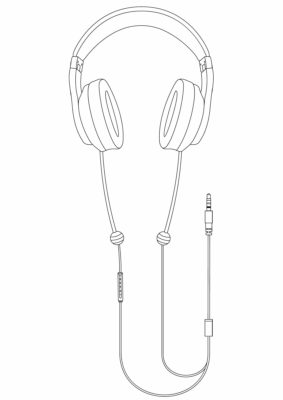 DefenderShield EMF Free Air Tube Headphones