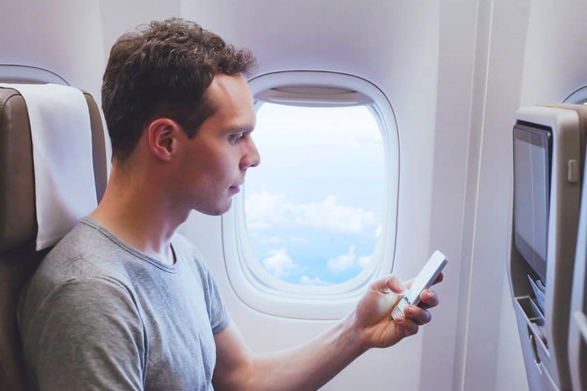 Does EMF exposure increase in airplanes while flying?