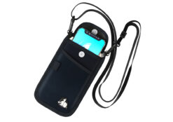 DefenderShield EMF Radiation Protection Cell Phone Pouch with Flap and Strap Attachment